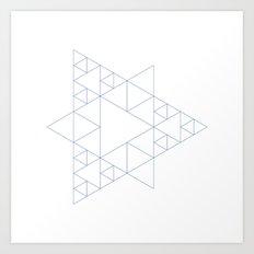 #377 Triangular architecture – Geometry Daily Art Print