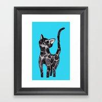 Giraffe Cat 2. Framed Art Print