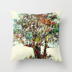 Tree Mosaic Throw Pillow