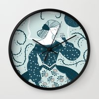 Little Briar Rose Wall Clock