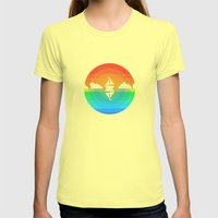 Sunset Sailing Womens Fitted Tee Lemon SMALL