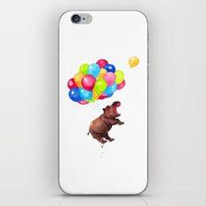 Hippopotamus Can Fly iPhone & iPod Skin