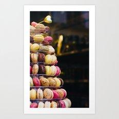 Macarons Tower Paris Art Print