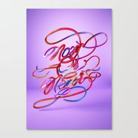 Now Or Never // Typography Canvas Print