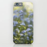 iPhone Cases featuring Forget me not in LOVE by UtArt