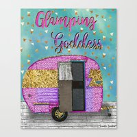 Glamping Goddess Canvas Print