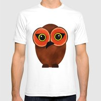 The Tiki Owl Mens Fitted Tee White SMALL