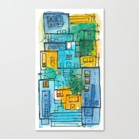 Blues Street Canvas Print