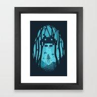 Framed Art Print featuring 8 Bit Invasion by Filiskun