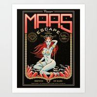 the mars escape Art Print