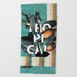 Beach Towel - 1965 Vintage Garden - Burcu Korkmazyurek