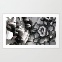 Art Print featuring Detail Shots of Current Work Available for Print by Charles Clary