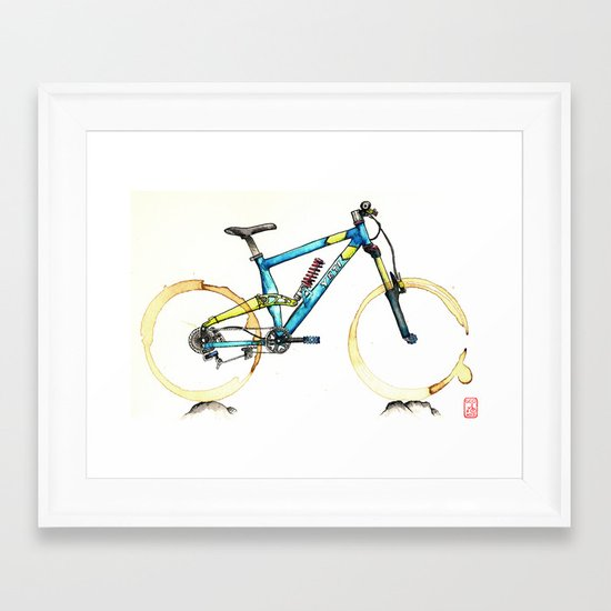 Coffee Wheels #14 Framed Art Print