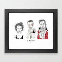 Fight Club - Triptych Framed Art Print