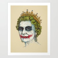 God Save the Villain! Art Print