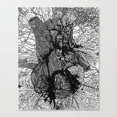 Artificially Organic Heart Canvas Print