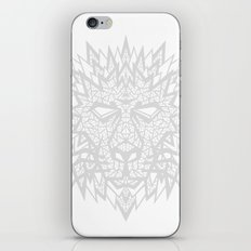Heart of a Lion - Gray iPhone & iPod Skin