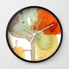 watercolour floral abstract Wall Clock