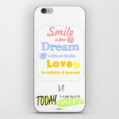 {ENG} SMILE · DREAM · LOVE iPhone & iPod Skin