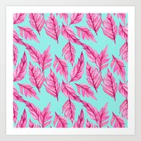 Fuchsia Leaves Art Print