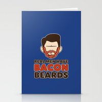 Bacon Beard (men's version) Stationery Cards
