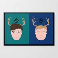 Rust & Marty From True D… Canvas Print