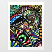 Carnival Of Colour Art Print