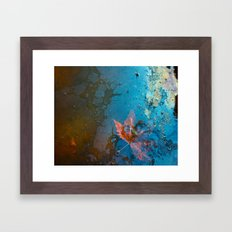 Leaf in my Pond Framed Art Print