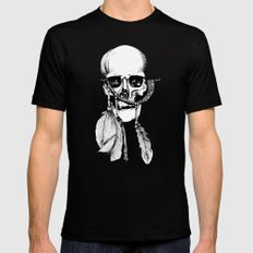 Skull of Time Black SMALL Mens Fitted Tee