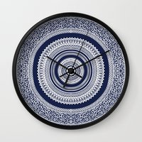 Denim Mandala Wall Clock