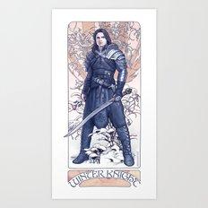 The Winter Knight Art Print