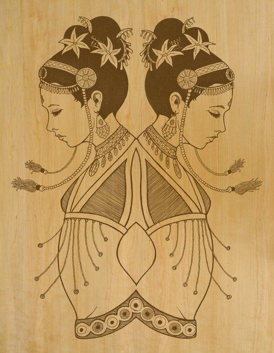 Reflected Dancers Art Print