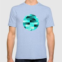 Teal Mens Fitted Tee Tri-Blue SMALL