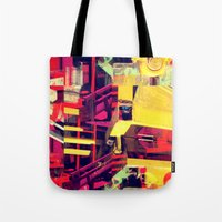 Industrial Abstract Red Tote Bag