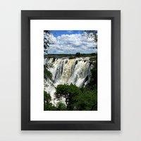 Victoria Falls On The Zambezi River Framed Art Print