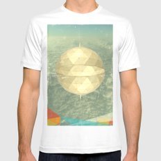 Space Dome Mens Fitted Tee SMALL White