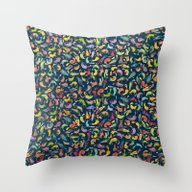 Watercolor Cats III Throw Pillow