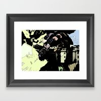 Revenge Of The Giant Framed Art Print
