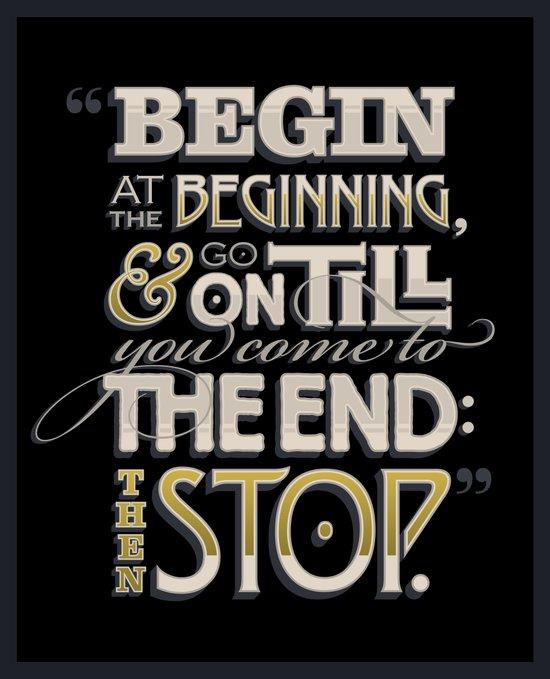 Begin at the Beginning Canvas Print