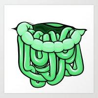 viscera : melon Art Print