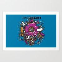 Donut Beauty Art Print