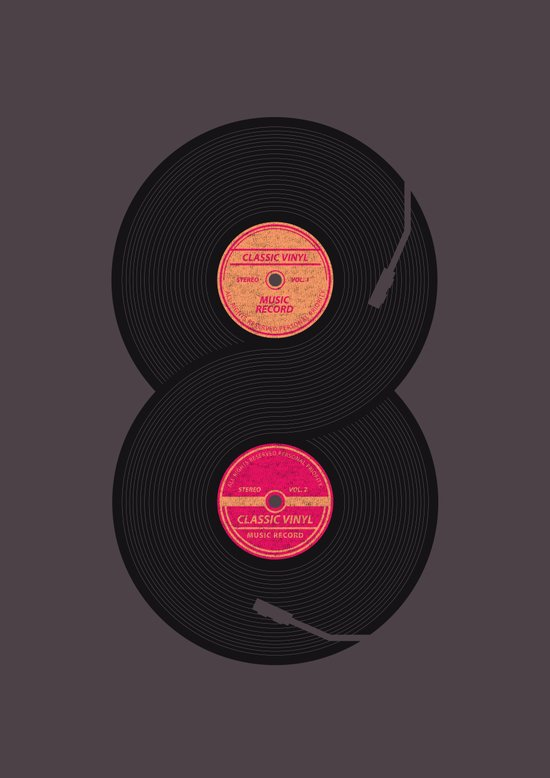 infinity vinyl records Canvas Print