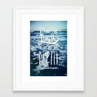 Depth X Ocean Framed Art Print