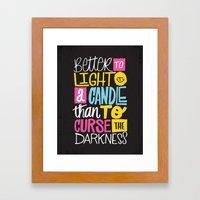 LIGHT A CANDLE Framed Art Print