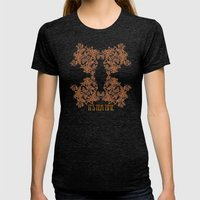 Morning Tea Reversed Womens Fitted Tee Tri-Black SMALL