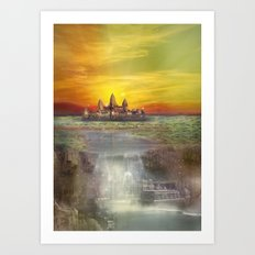 Temple Station Art Print