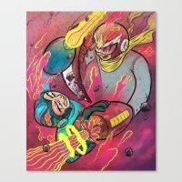 Mega Man Tribute Canvas Print
