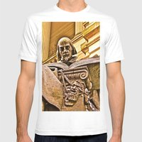 Shakespeare Hits The Boo… Mens Fitted Tee White SMALL
