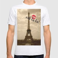 ooh la la Mens Fitted Tee Ash Grey SMALL