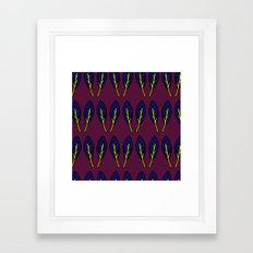 CRANBERRY LEAF Framed Art Print